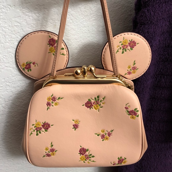 84e407c33ef Coach Handbags - Coach Disney X Minnie Mouse Pink Ear Crossbody